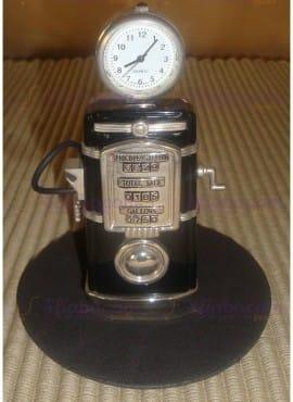 Orologio Pompa Di Benzina Acciaio Da Tavolo Romanowski Design Birkholz