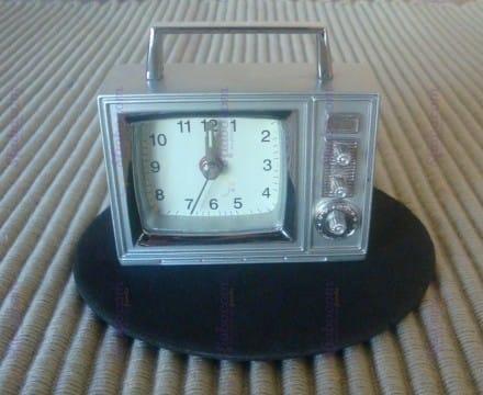 Orologio Televisione Acciaio Da Tavolo Romanowski Design Birkholz