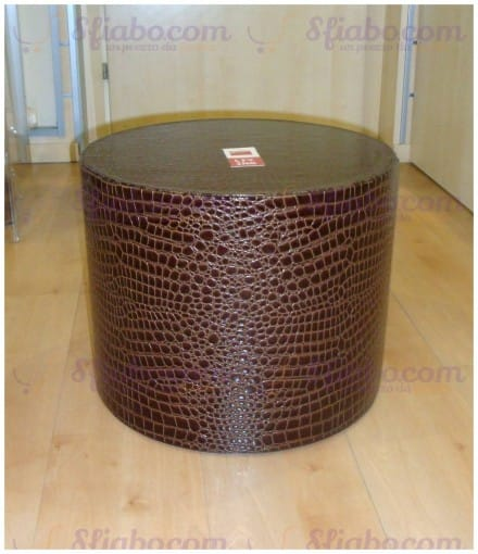 Pouf Ecopelle Marrone Giannini Living