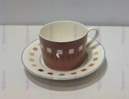 Tazze Da Thè Marroni In Porcellana ICM