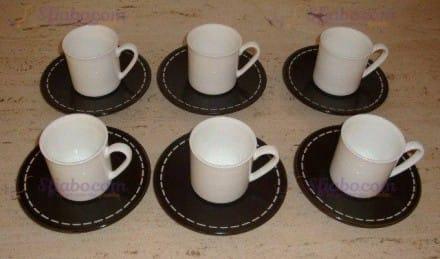 Servizio Tazzine Da Bone China Caffè Domino