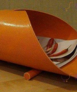 Portariviste In Ecopelle Arancione