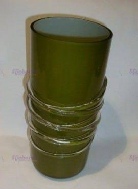 Vaso Verde In Vetro