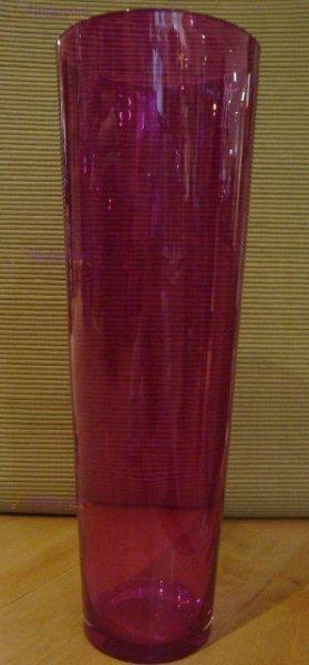 vaso vetro fucsia