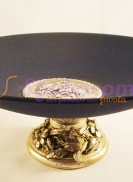 Centrotavola Alzata Silver Ceramica Blu