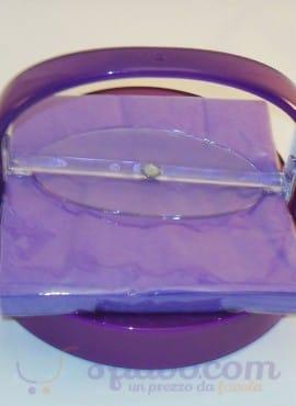 Portatovaglioli Omada In Plexiglass Rosso E Viola
