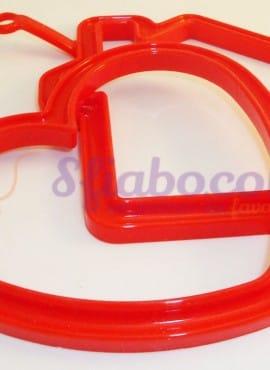 Stampi Cuoci Frittata Cuore-Casa In Silicone Rosso