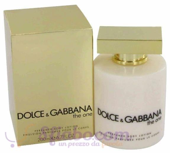 dolce gabbana the one latte corpo200ml