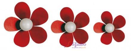 Set Gancio a forma di fiore Fiorello Arti e Mestieri in Ferro