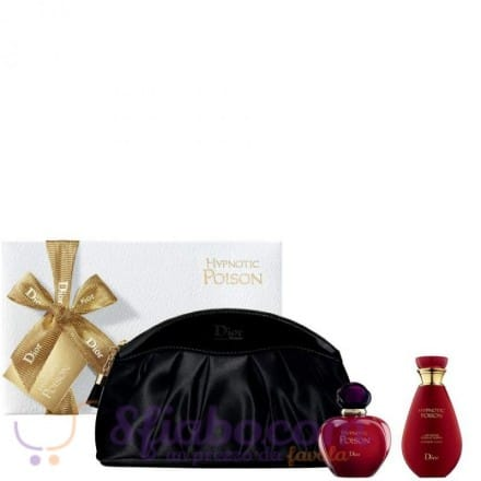 Confezione Regalo Christian Dior Hypnotic Poison Profumo EDT 50ml + Body Lotion 50ml+ Beauty