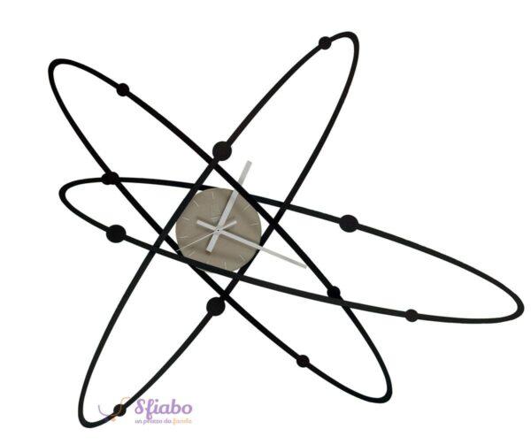 orologio da parete arti e mestieri atomo new nero 2591