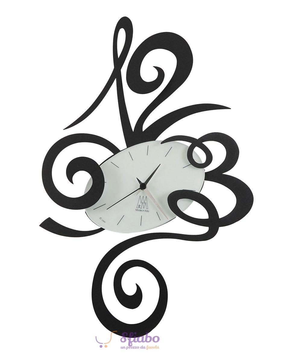 Orologio da Parete Arti e Mestieri Big Robin Grande in Ferro Nero