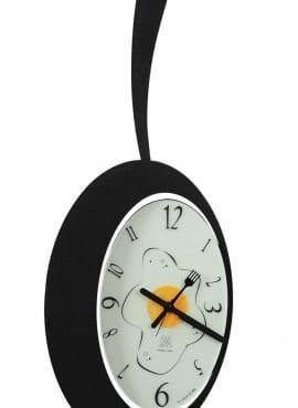Orologio a forma di padella Arti e Mestieri Omelette Nero