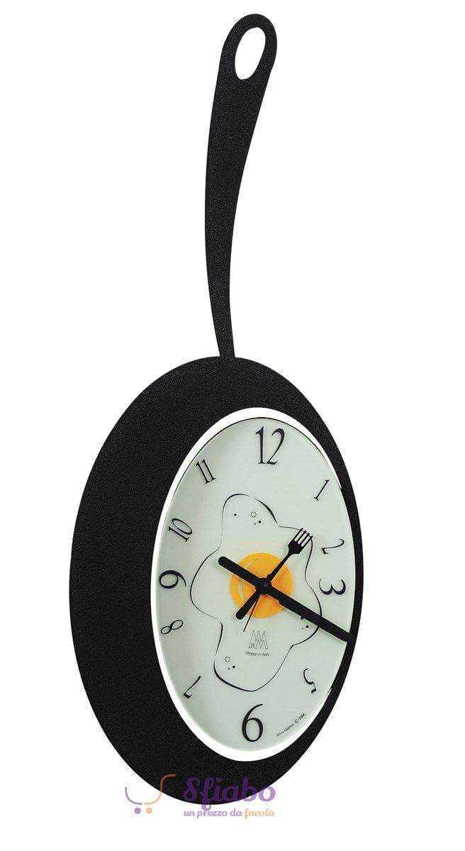 Orologio a forma di pentola arti e mestieri omelette nero for Orologio arti e mestieri amazon
