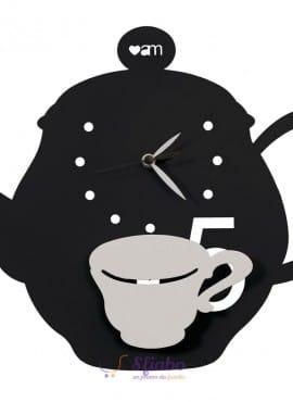Orologio a forma di teiera con pendolo Arti e Mestieri