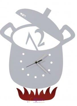 Orologio Pentola con Pendolo Arti e Mestieri in Ferro