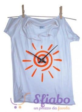 Orologio da Parete Sole al Polo Antartidee T-shirt Maglietta