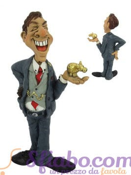 Statuina Caricatura Boss Banchiere