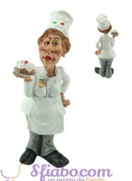 Statuina Caricatura Chef-donna
