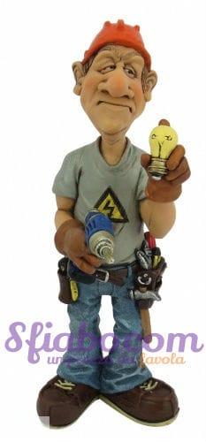 Statuetta Caricatura Elettricista