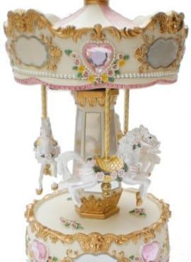 Carillon Giostra Rosa e Pagliaccio