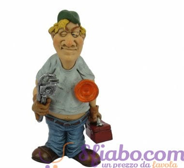 Statuetta Caricatura Idraulico