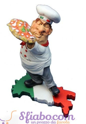 Statuina caricatura Pizzaiolo