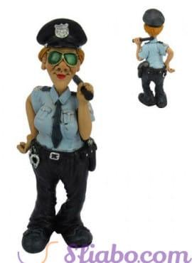 Statuina caricatura Poliziotta- Vigilessa