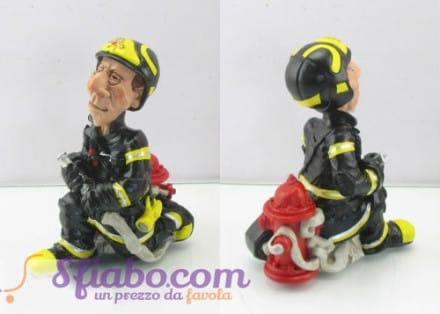 Statuetta Caricatura Pompiere